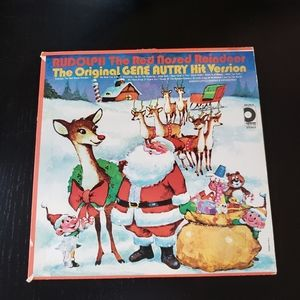 Vintage Rudolph the Red Nose Reindeer VinylRecord